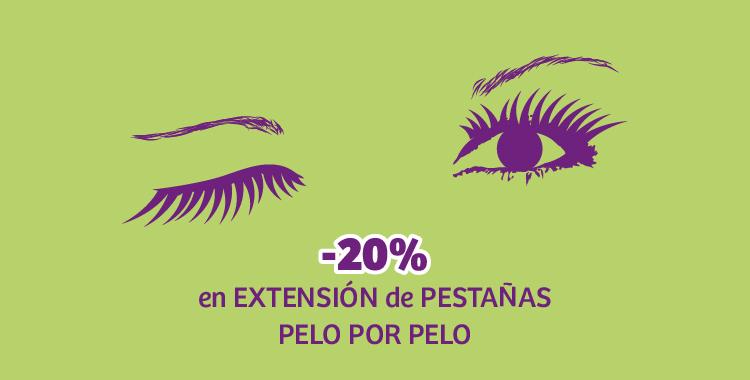 Promo extensión de pestañas pelo por pelo
